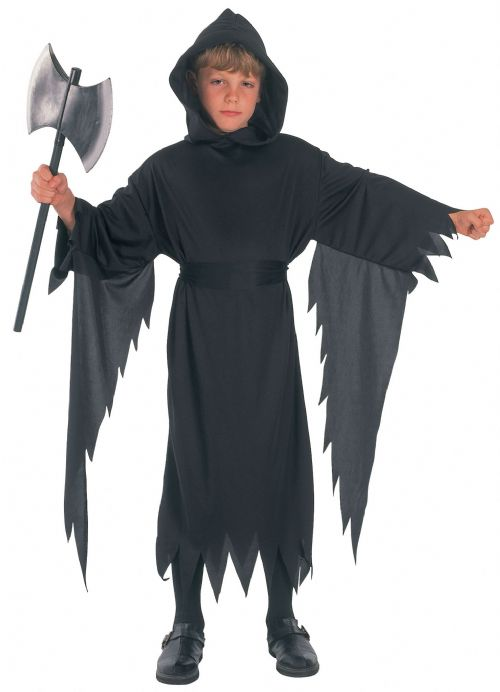 Boys Demon Scream Costume Devil Satan Lucifer Antichrist Halloween Fancy Dress